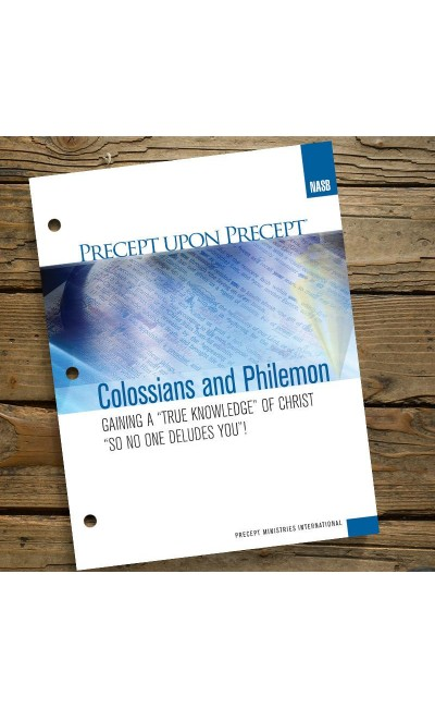 Colossians and Philemon-Precept Workbook (NASB)